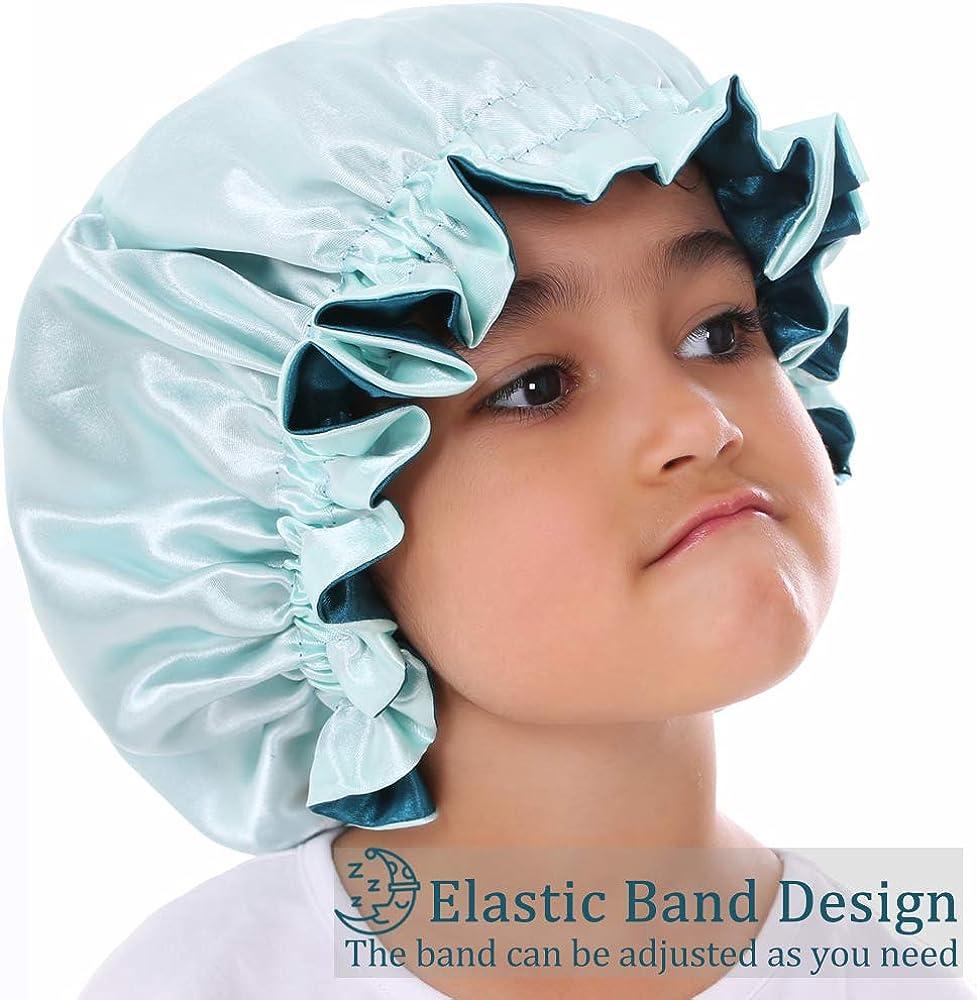 Satin Bonnet for Kids Bonnet Sleeping Cap Kids Silk Bonnet for Curly Hair Bonnet for Sleeping Kids Hair Bonnet for Sleeping