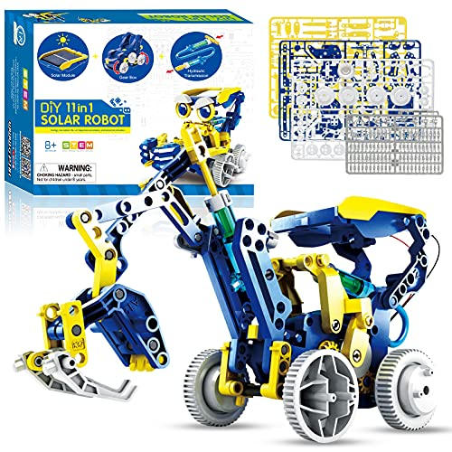 STEM PROJECTS 대 한 KIDS AGES8-12 MAKE YOUR OWN11IN1SOLAR ROBOT TOY DIY SCIENCE KITS 대 한 청소년 COOL TOYS&GIFTS 대 한 8+BOYS 및 GIRLS