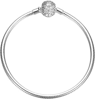 SOUFEEL S925 Sterling Silver Crystal Bracelets Basic Charm Bracelet Jewelry Chain Clasp Bracelets Exclusive Simple Bracele...