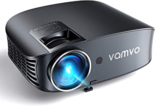 """Video Projector, Outdoor Movie Projector with 200"""" Projection Size, vamvo Home Theater Projector with Platform Pallet, Support 1080P, Compatible with Fire TV Stick, PS4, HDMI, VGA, AV and USB 3600L"""