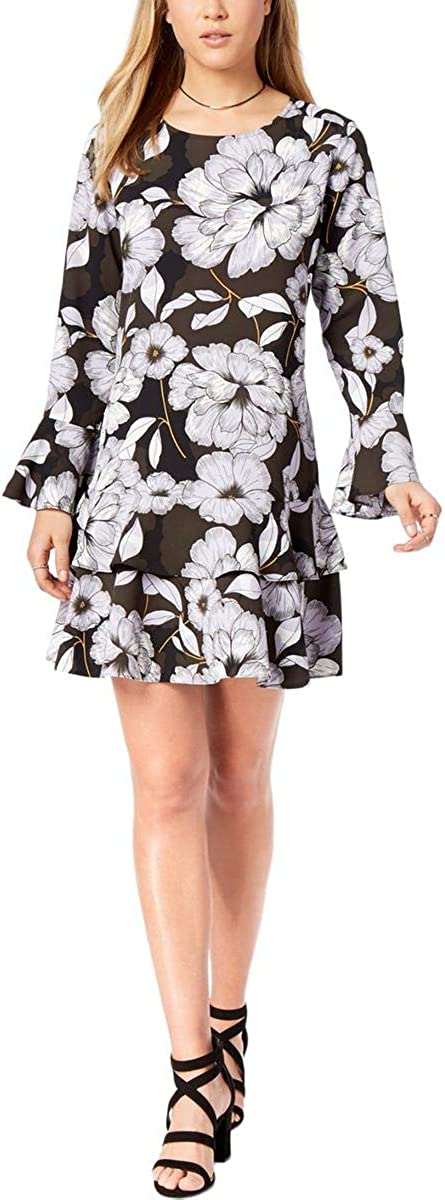bar III Womens Floral-Print Mini Dress