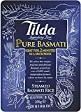 Tilda - Arroz basmati puro al vapor - 250 g - Pack de 6 unidades