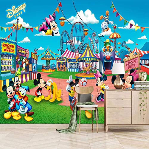 MZCYL Wallpaper for Bedroom Kids 400x280cm Cartoon Maus Zirkus Selbstklebender Wandplakat 3D wandbilder 3D Fototapete Wohnzimmer XXL 3D Effekt Vliestapete Schlafzimmer Wohnzimmer Küche dekor