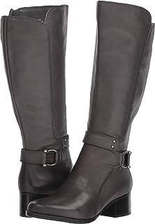 حذاء برقبة طويلة حتى الركبة من جلد الدنمارك، مصنوع من اللوز، من ناتشيراليزر