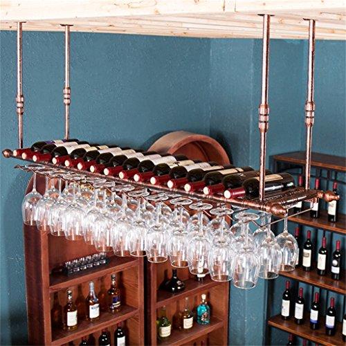 Application de décoration murale Support à vin monté en métal accrochant, support accrochant en verre et de gobelet de verre de vin européen de fer Racks pour étagères