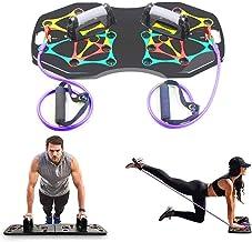 Tablero de soporte entrenamiento, tablero bastidor levantamiento pesas, soportes culturismo, prensa potencia con código colores y ejercicios push-up multifunción, para entrenamiento muscular corporal