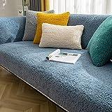 B/H Lavable/Antiácaros Funda de sofá,Cojín de sofá de Felpa Gruesa, Funda de sofá Simple Universal-Azul Claro_70 * 70cm,Sillón Elastano Fundas de Sofá