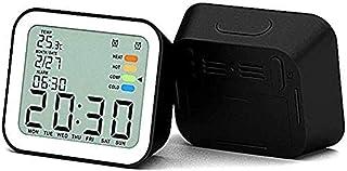 Digital väckarklocka Inomhus Digital termometerhygrometer, Exakt rumstemperaturfuktighetsmätare med - Lätt att läsa, Max/m...