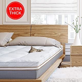 BedStory Mattress Topper Pillow Top, Down Alternative Bed Toppers with 2.5 Inch Ultra Plush Fiber, Hotel Quality Premium Mattress Pad with 4 Anchor Bands & Hypoallergenic Soft Fills, Twin Size