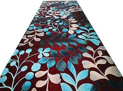 JIAJUAN Hallway Runner Kitchen Entryway Mat Non-Slip Area Narrow Rugs Cuttable, 6mm, 2 Styles, Multiple Lengths, Customizable (Color : B, Size : 1.4x6m)