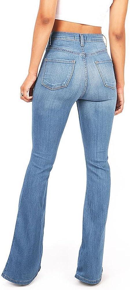 Vibrant Pantalones Vaqueros Ajustados De Cintura Alta Para Mujer Amazon Es Ropa Y Accesorios