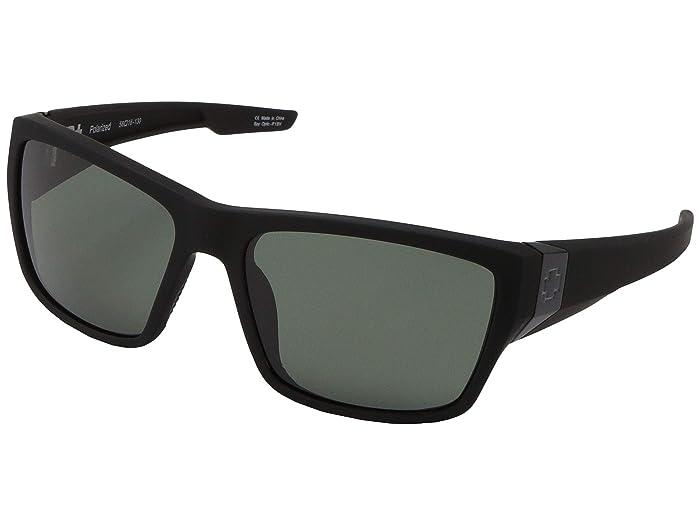 Spy Optic Dirty Mo 2 (Soft Matte Black/HD Plus Gray Green Polarized) Sport Sunglasses