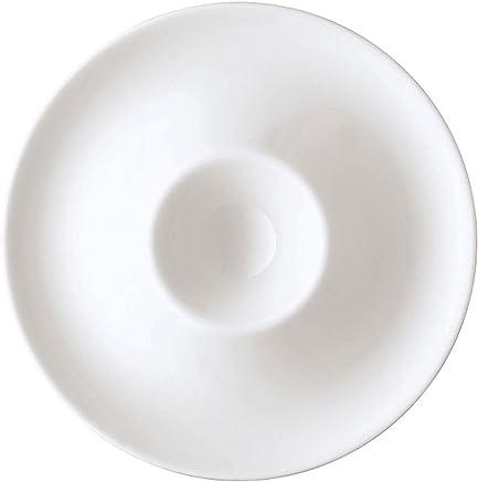 Preisvergleich für Arzberg Form 1382 Eierbecher mit Ablage, Eierhalter, Eier Becher, White, Porzellan, 41382-800001-15525