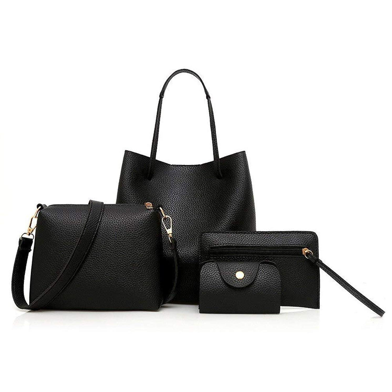 動く具体的に活性化するLPP4 ピース女性のバッグ 2019 新しいパターン革ハンドバッグトートレディース財布高品質ショルダーバッグレディーススモールクラッチクロスボディバッグ小銭入れ 小さい