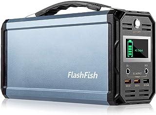 FlashFish ポータブル電源 大容量 60000mAh/222Wh AC(300W 瞬間最大350W) DC(168W) 家庭用蓄電池 USB出力 急速充電QC3.0搭載 純正弦波 ポータブルバッテリー モバイル電源 三つの充電方法 ソー...