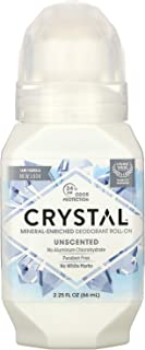 Crystal Mineral Body Deodorant Roll-On, Unscented 2 oz