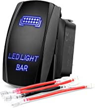 Nilight NI-RS081 Bar Rocker 5Pin Laser On/Off LED Light 20A/12V 10A/24V Switch Jumper Wires Set for Jeep Boat Trucks,2 Years Warranty