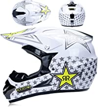 TLPSB Casque de Motocross Adulte Casque de Moto MX Casque de Moto ATV Scooter ATO D.O.T certifi/é avec des Gants Gants Masque Fox S, M, L, XL, XXL
