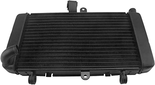 lowest Mallofusa Motorcycle Aluminum high quality Radiator Cooler Cooling Compatible for Honda high quality CBR250RR MC19 1988 1989 Black online sale