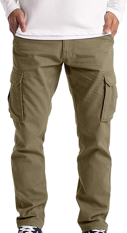 Soolike 2021 Nuevo Pantalones para Hombre Casual Moda Trabajo Pantalones Pants Jogging Pantalon Fitness Pantalones Chandal Hombre Largos Pantalones Ropa de Hombre Multibolsillos Pantalones.