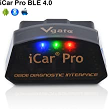 Vgate iCar Pro Bluetooth 4.0 (BLE) OBD2 Fault Code Reader OBDII Code Scanner Car Check Engine Light iOS iPhone iPad/Android Compatible ELM327 Adapter