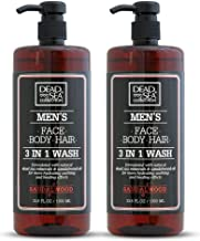 Dead Sea Collection Men's Mineral Face, Hair & Body Wash with Sandal-wood Extract known to sooth the skin, relieve it from...