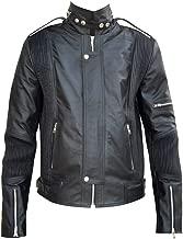 Classyak Men's Fashion Punk Real Leather Studded Jacket