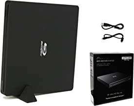 Pioneer BDR-XS07UHD Portable 6X Ultra HD 4K Blu-ray Burner External Drive Bundle with Cyberlink Software Download Installation Code and USB Cable - Burns CD DVD BD DL BDXL Discs