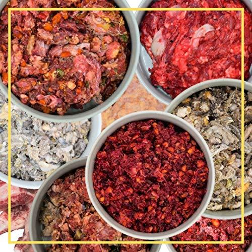 feed&meat Fertigbarf Regional in NRW produziert -Komplettpaket Getreidefrei Zuckerfrei -20x 500g stückig in wiederverschließbaren Schalen (stückig, 500g)