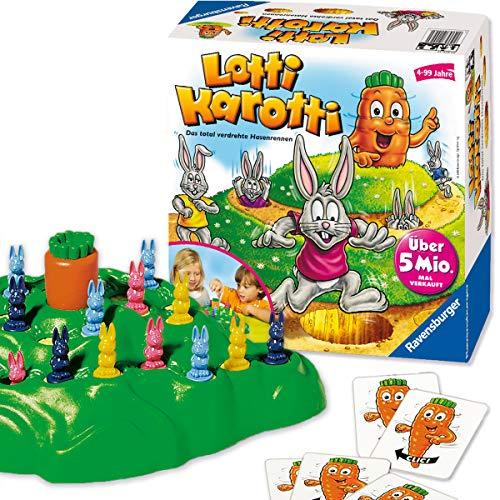 Ravensburger Lotti Karotti, Gesellschafts- und Familienspiel für Kinder und Erwachsene, Partyspiel für Kindergeburtstage, 2-4 Spieler, ab 4 Jahren