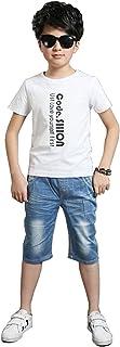 デニムパンツ ハーフパンツ キッズ 子供 男の子 ショートパンツ 五分丈 色落ち加工 ファッション ジーンズ ストレッチ パンツ 短パン 半ズボン 子供用 かっこいいウェストゴム 通学 通園 カジュアル 110-160cm