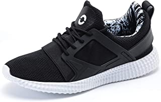 YIRUIYA Men's Knit Running Shoes Slip on Sneakers Breathable Tennis Athletic Walking Gym Sport Shoes