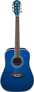 Oscar Schmidt 1/2 Size Dreadnought Guitar Transparent Blue