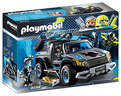 Playmobil 9254 Top Agents Dr. Drone's Pickup with Firing Weapons Toy Set