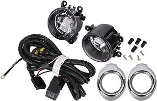 55W Fog Lights Assembly Fog Lamp Clear Lens Bumper Lamp Bulbs w/Harness Bracket Kit for Ford Focus S SE SEL Titanium 2012 2013 2014