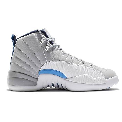 08c6867b4b455 Jordan Air 12 Retro Wolf Grey UNC University Blue Men s Shoe Size