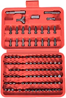 All Purpose Security Bit Set with Bonus Ratcheting Screwdriver Set Hex Tamper Proof Bolts Precision Screwdriver Set Power Tools Box Case Original (Red)