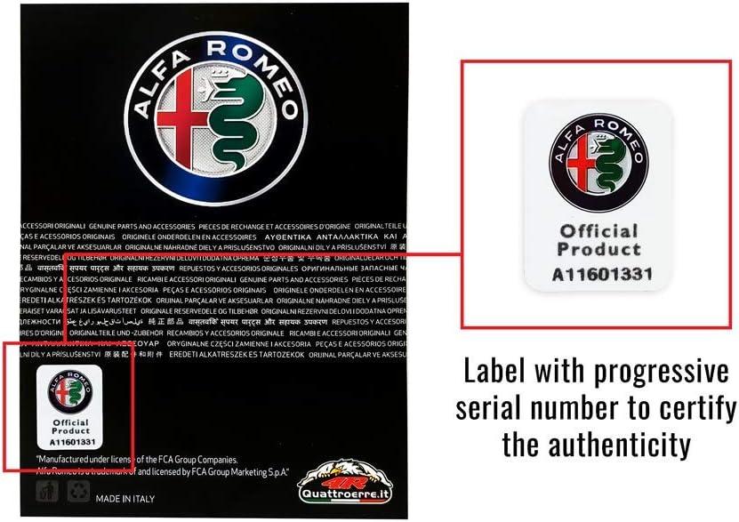 Alfa Romeo 21811 Adhesivos oficiales con 1 logotipo de 75 mm y 1 texto 94 x 131 mm