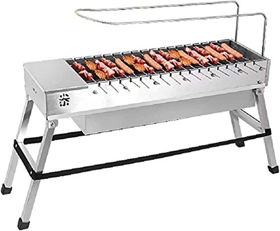 Vklet Automatic Rotating Charcoal BBQ Grill Barbecue Stainless Steel