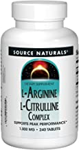 Source Naturals L-Arginine L-Citrulline Complex 1000mg Essential Amino Acid Supplement - 240 Tablets