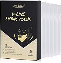 Double Chin Reducer V Line Lifting Mask V Shape Slimming Lifting Band Patch for Face and Chin Line Neck Mask Tightening Firming Moisturizing Facial Mask(V-MASK)