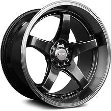 XXR Wheels 555 Chromium Black Machined Lip Wheel Finish (18 x 8.5 inches /5 x 100 mm, 35 mm Offset)