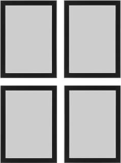 Ikea Fiskbo Bilderrahmen, A4, 21 x 30 cm, schwarz, 4 Stück,