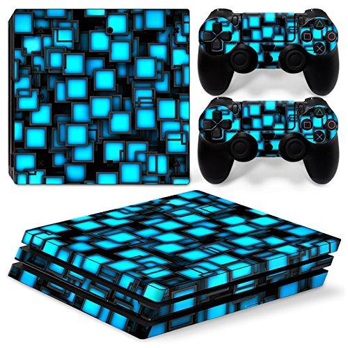 DolDer Playstation 4 Pro (PS4 Pro) Skin Sticker/Aufkleber Folie schützende Haut Schale für Sony PS4 PRO Konsole und 2 Dualshock Controller - 0754