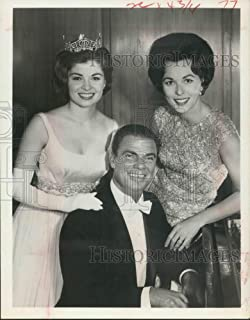 Historic Images - 1964 Press Photo Donna Lee Axum, Bert Parks, and Bess Myerson