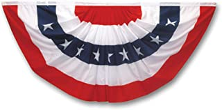 Valley Forge Flag PMF Pleated Mini Fan Flag With Stars Bunting, 1-1/2-Foot x 3-Foot