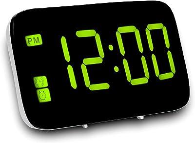 XZANTE Reloj Despertador, Reloj Despertador Digital con Control De Voz Y Despertador Grande, Reloj