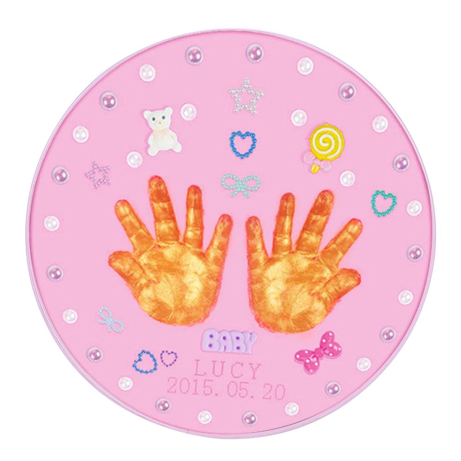 足枷是正するアルネフォトフレーム ベビーフレーム 手形足形フレーム 手形 足形 赤ちゃん 手作り DIY 無毒で安全な粘土 可愛いアクセサリがある 卓上用 ステント付き ダストカバー付き 有意義 面白い 誕生日プレゼント 出産祝い ベビー記念品 男女兼用 2色(ピンク)