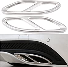 Duoles Pipe Throat Exhaust Outputs Tail Cover Trim for Mercedes Benz C-Class W205 Coupe,GLC, B W246,E W213 Coupe A-Class GLE GLS CLA