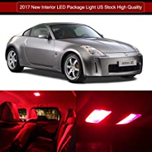 SCITOO LED Interior Lights 7pcs Red Package Kit Accessories Replacement for 2003-2008 Nissan 350Z